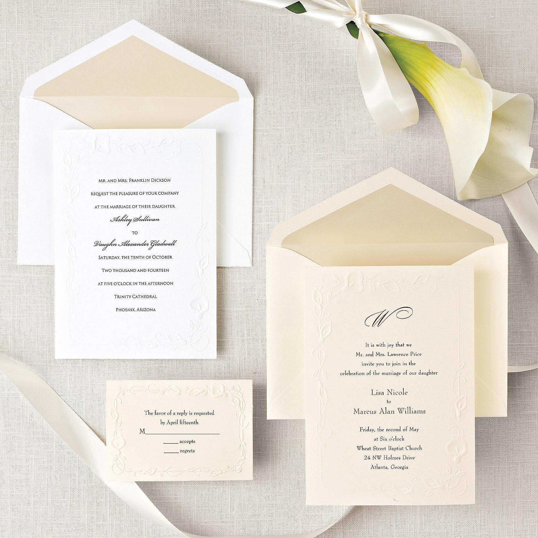 Calla Lily Beauty Wedding Invitation