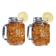 Mr. and Mrs. Mason Jar Glasses