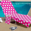 Plush Terrycloth Lounge Chair Cover, Pink
