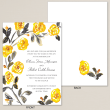 Watercolor Rose Trellis Wedding Invitation