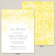 Glowing Lights Save the Date Card