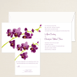 Orchid Beauty Wedding Invitation