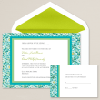 Modern Mosaic Wedding Invitation