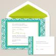 Modern Mosaic Wedding Invitation