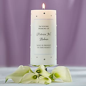 Crystal Accent Wedding Memorial Candle