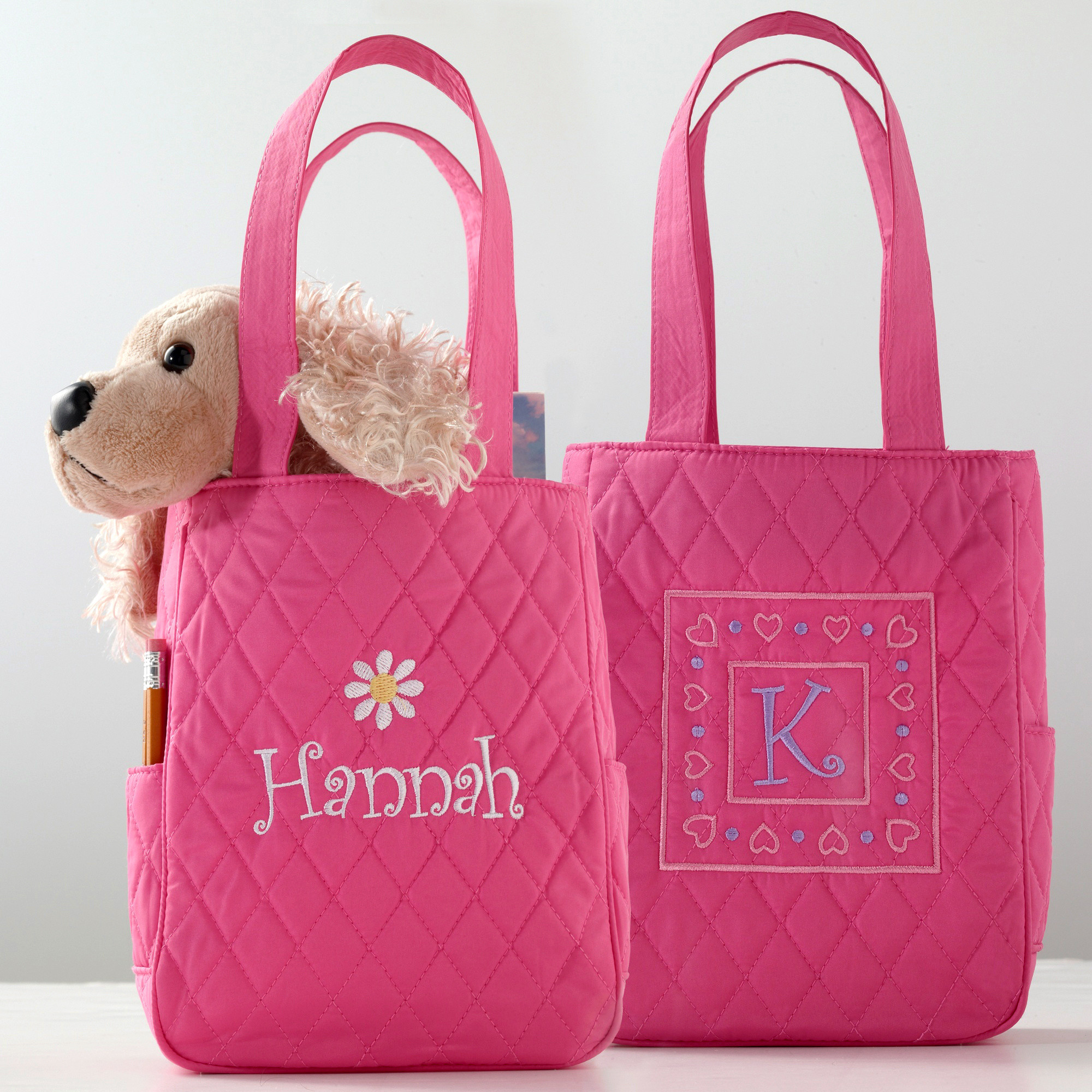 Personalized Mini Quilted Tote for Flower Girl | Flower Girl Gifts