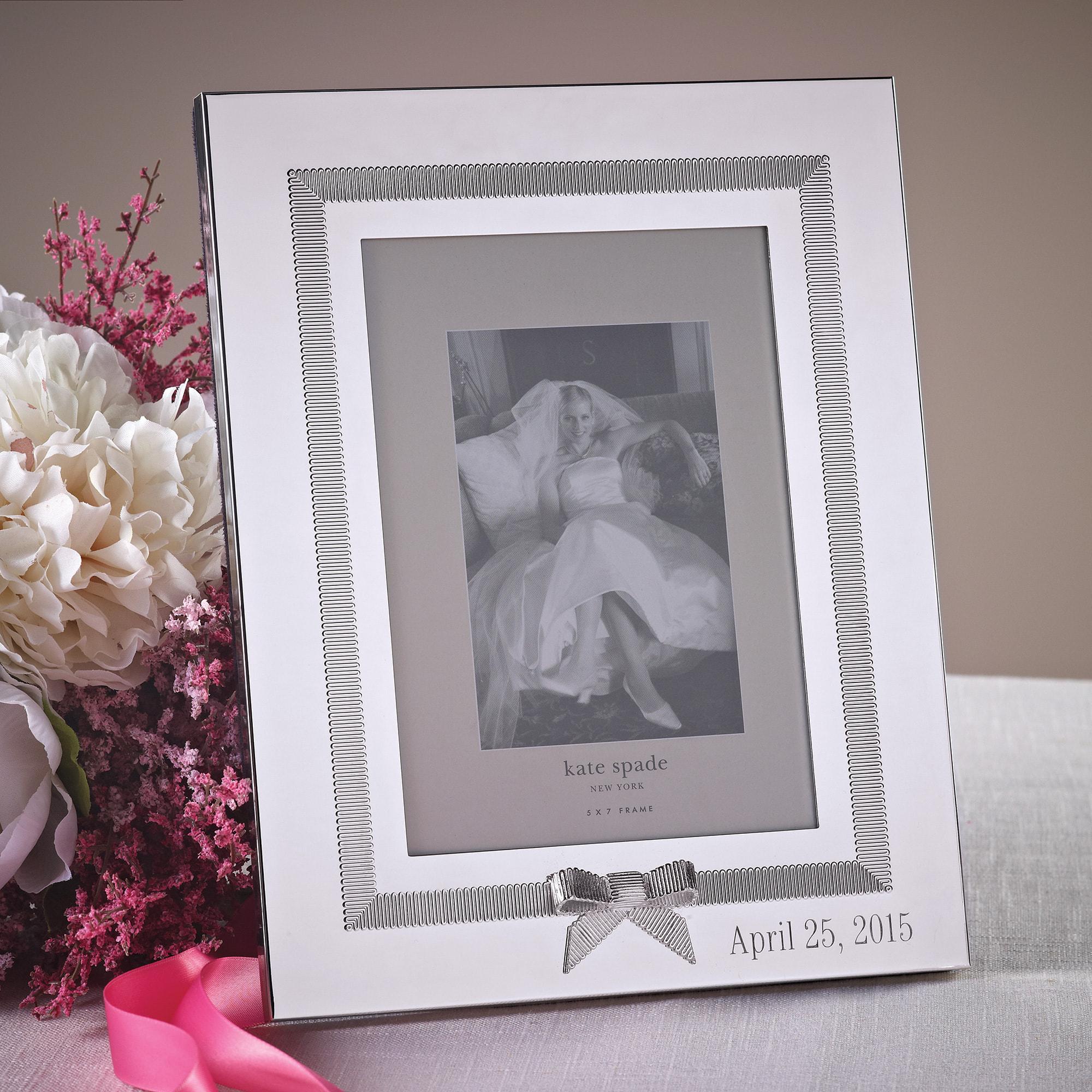 exclusively weddings kate spade grace avenue wedding frame