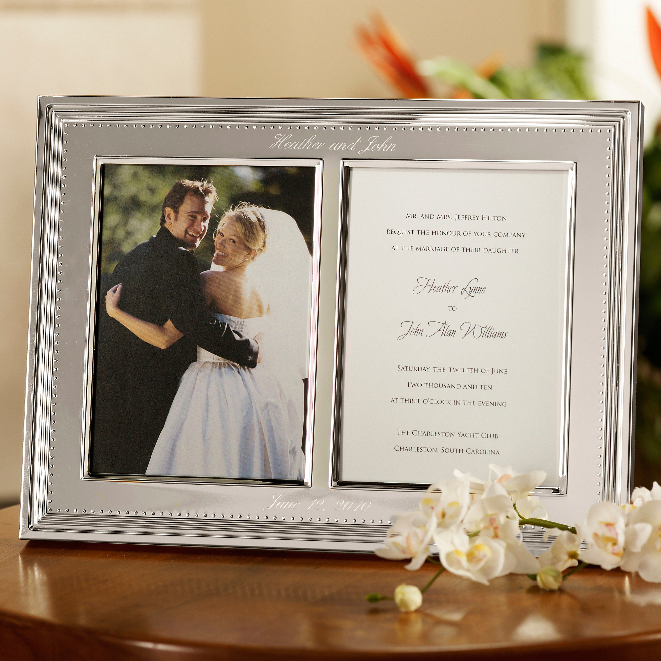 vera wang photo invitation frame