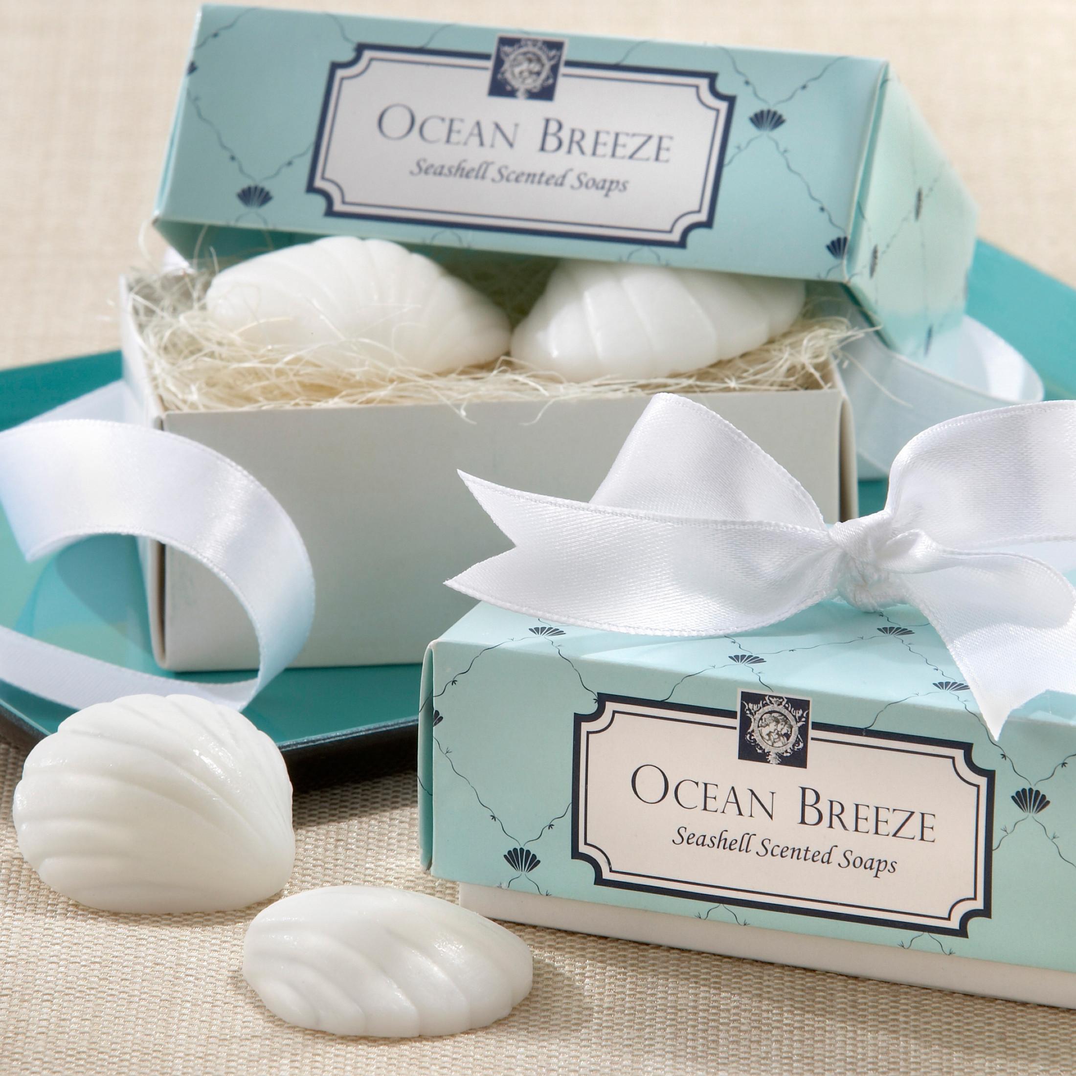 ocean breeze seashell scented soaps wedding favor soap wedding favors