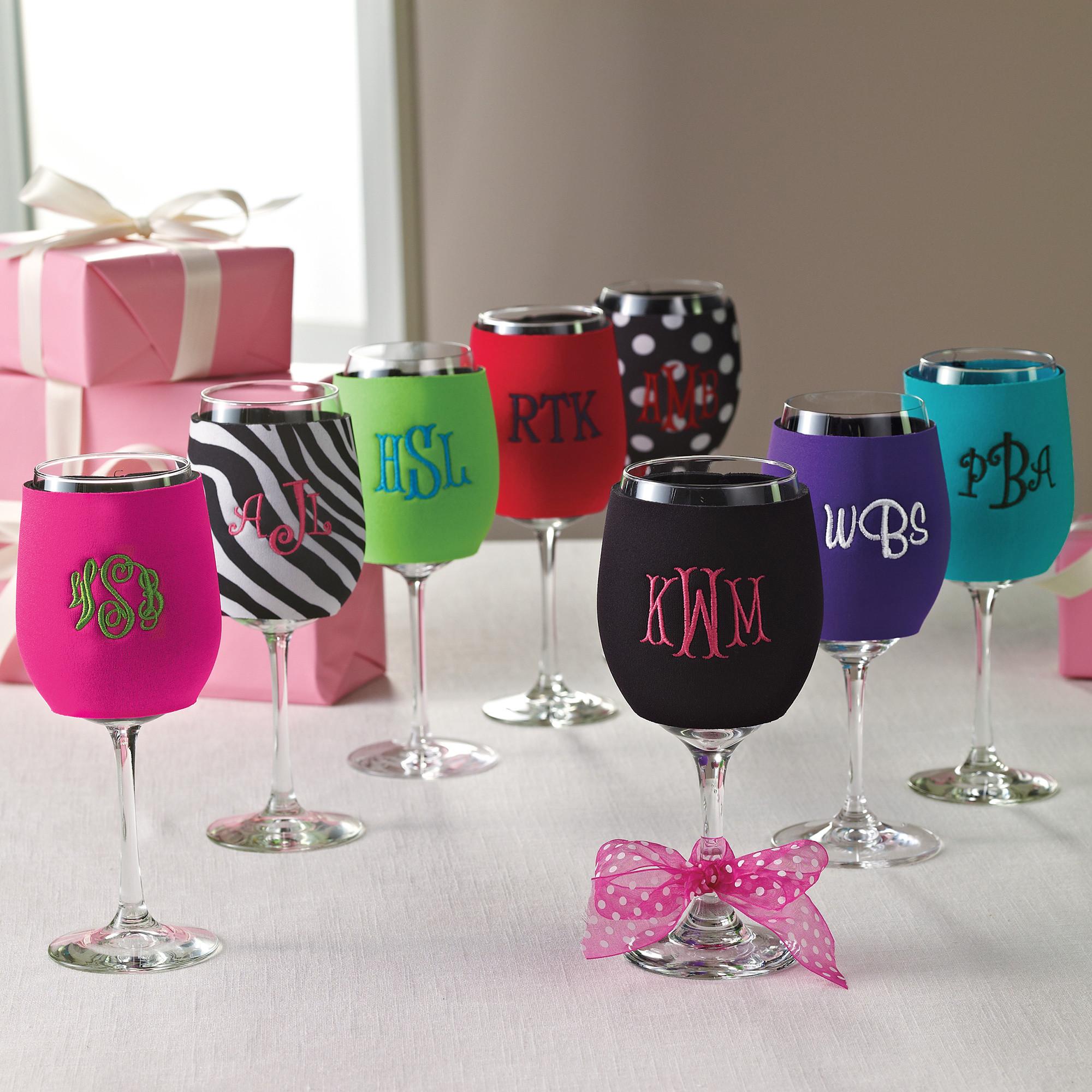 Wine Glass Koozies wedding wine glasses