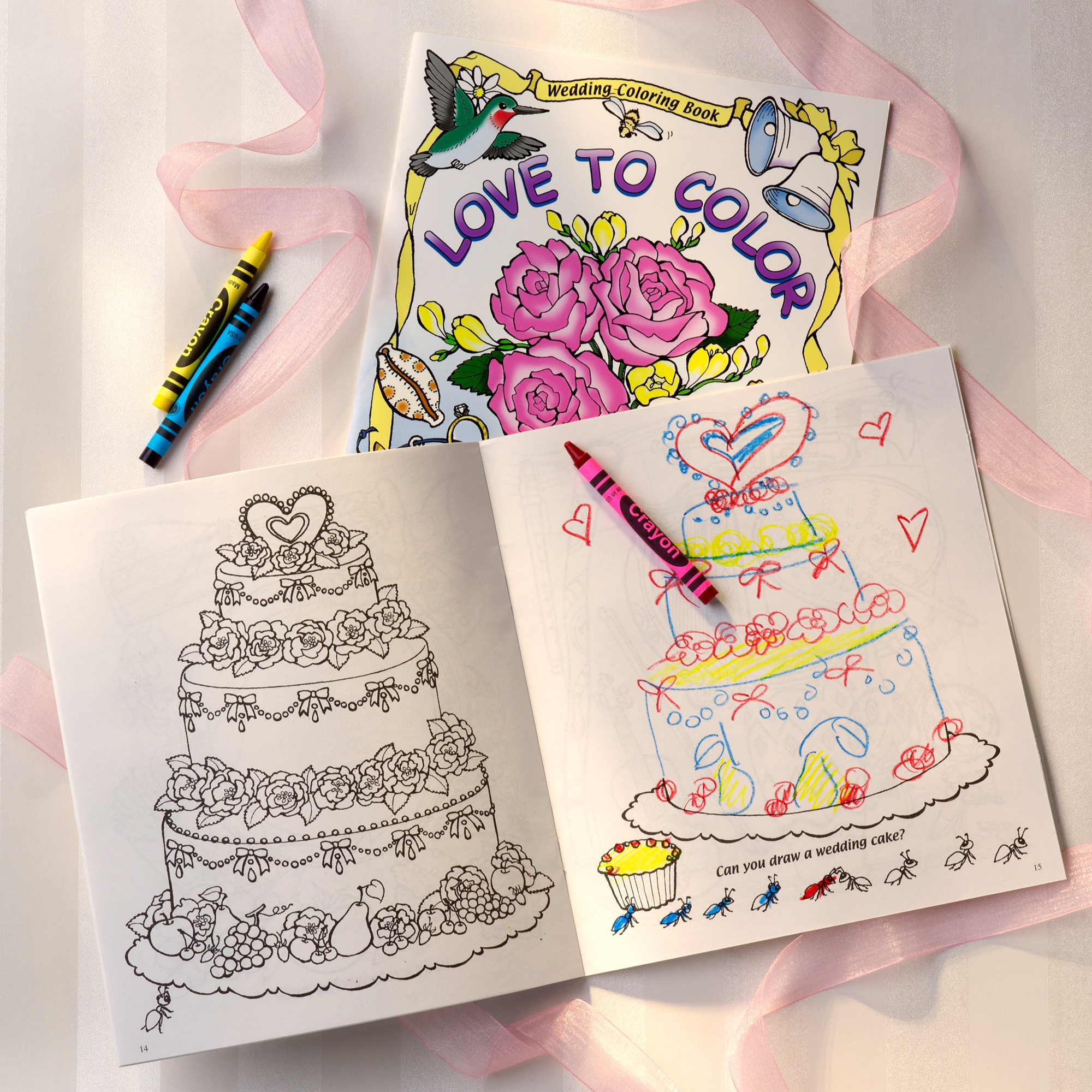 wedding coloring book for your flower girl and ring bearer - Flower Girl Coloring Book