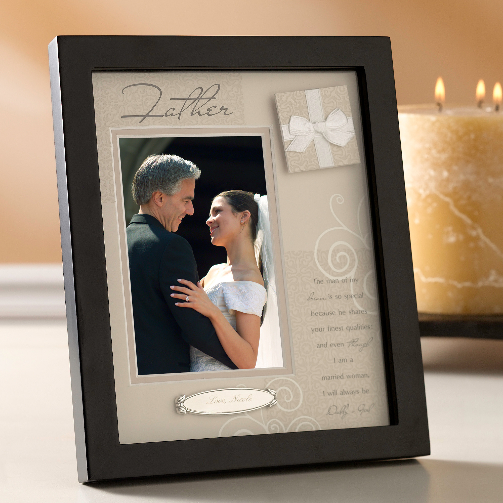 personalized shadow box frame father of the bride gifts