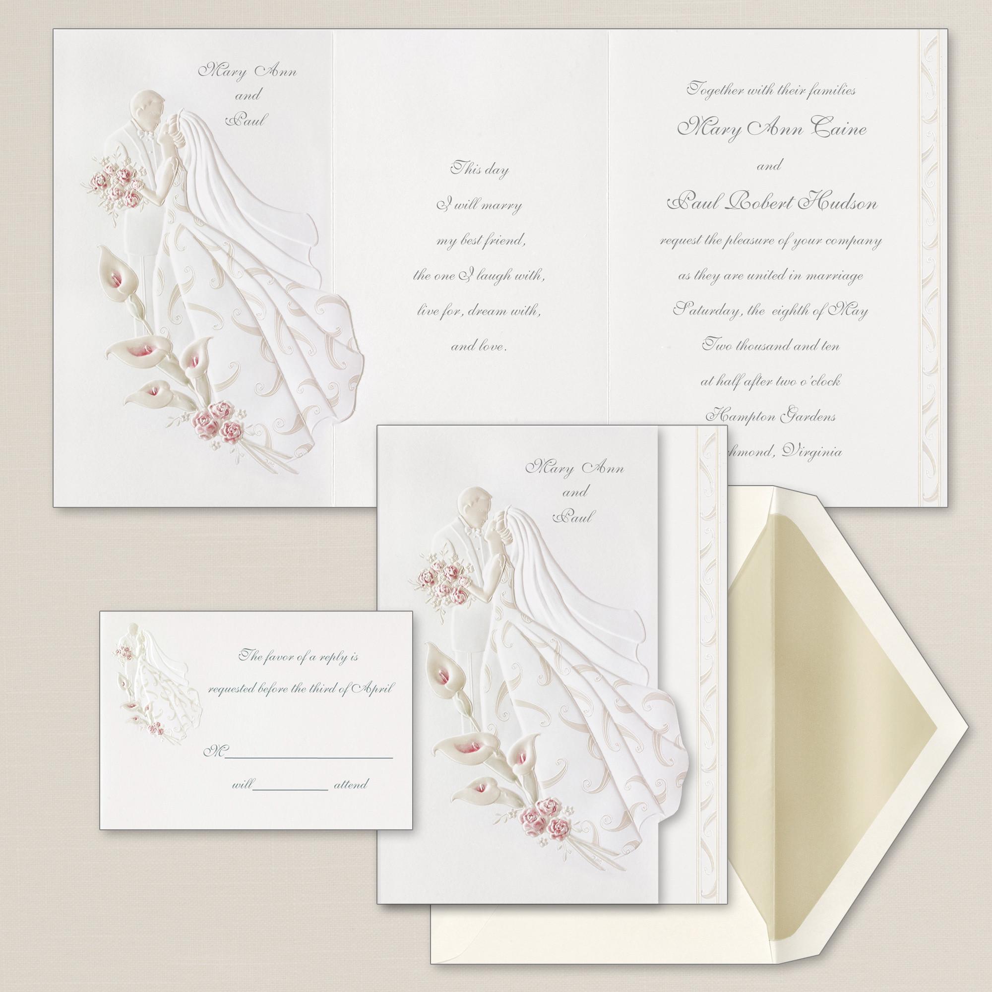 First Dance Wedding Invitation Embossed Wedding Invitations