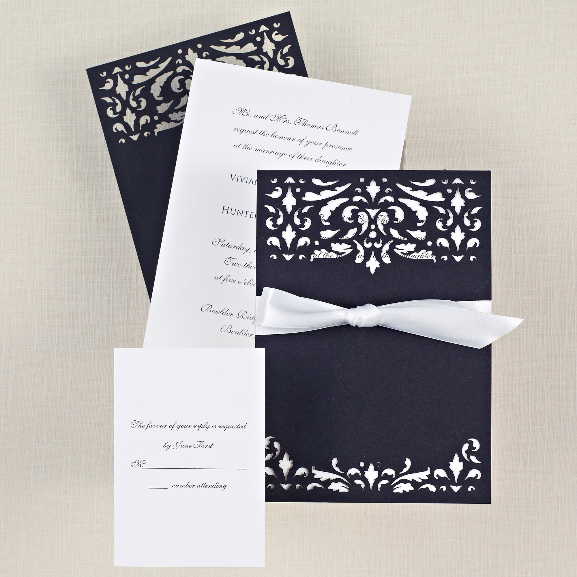 black and white wedding invitations, Wedding invitations