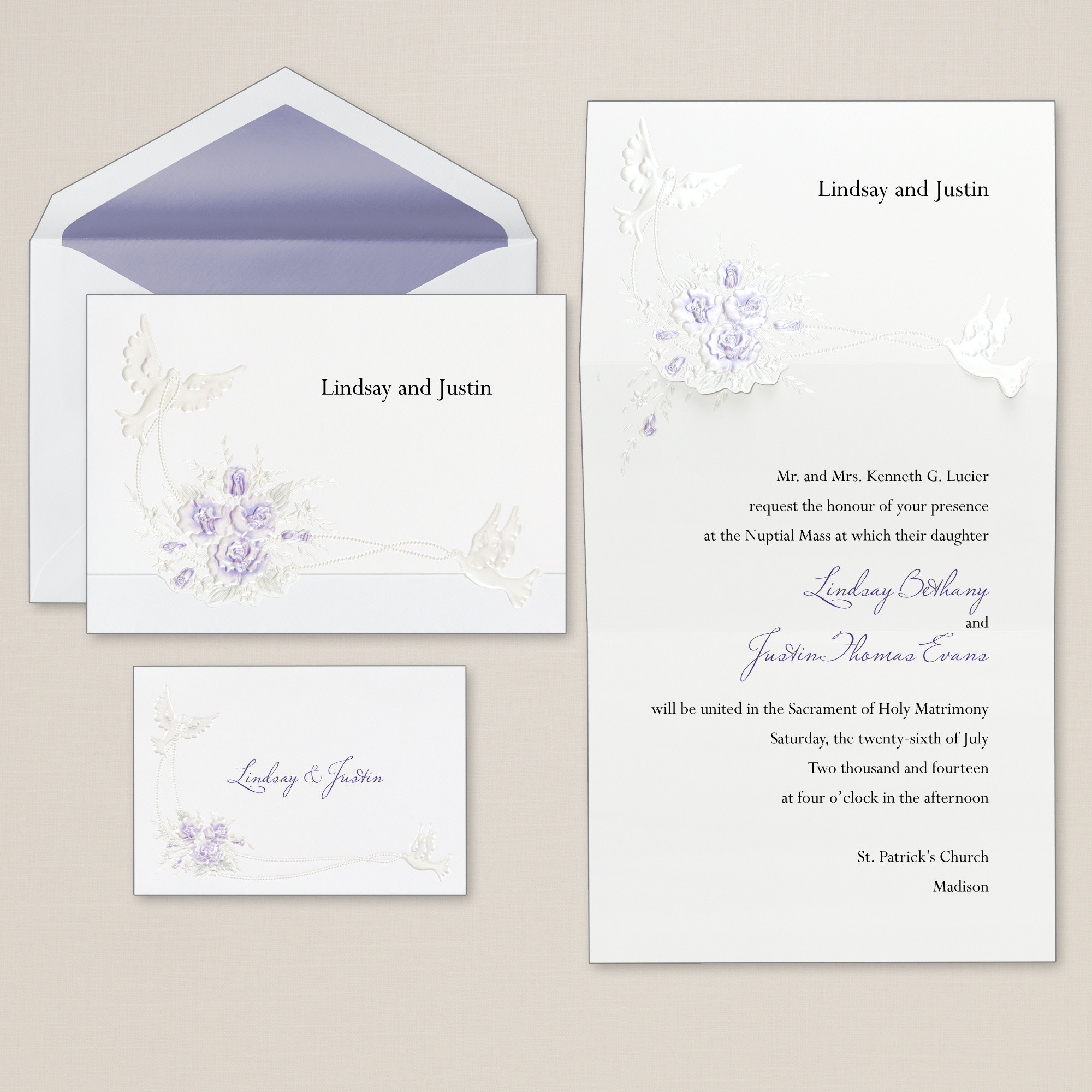 doves with roses wedding invitation floral wedding invitations - Wedding Invitation Response Card