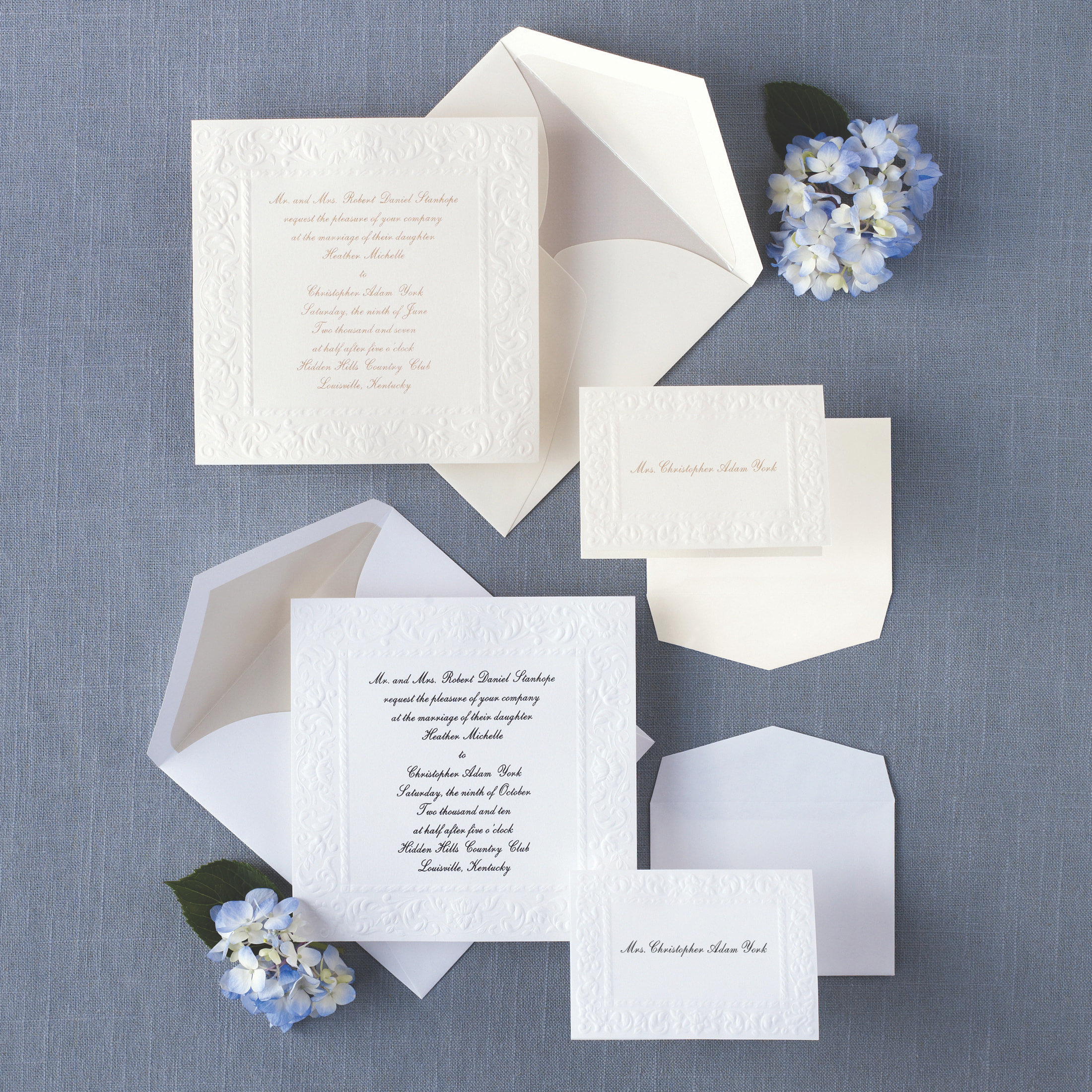 Old World Elegance Wedding Invitation Embossed Wedding Invitations – Wedding Invitations Embossed