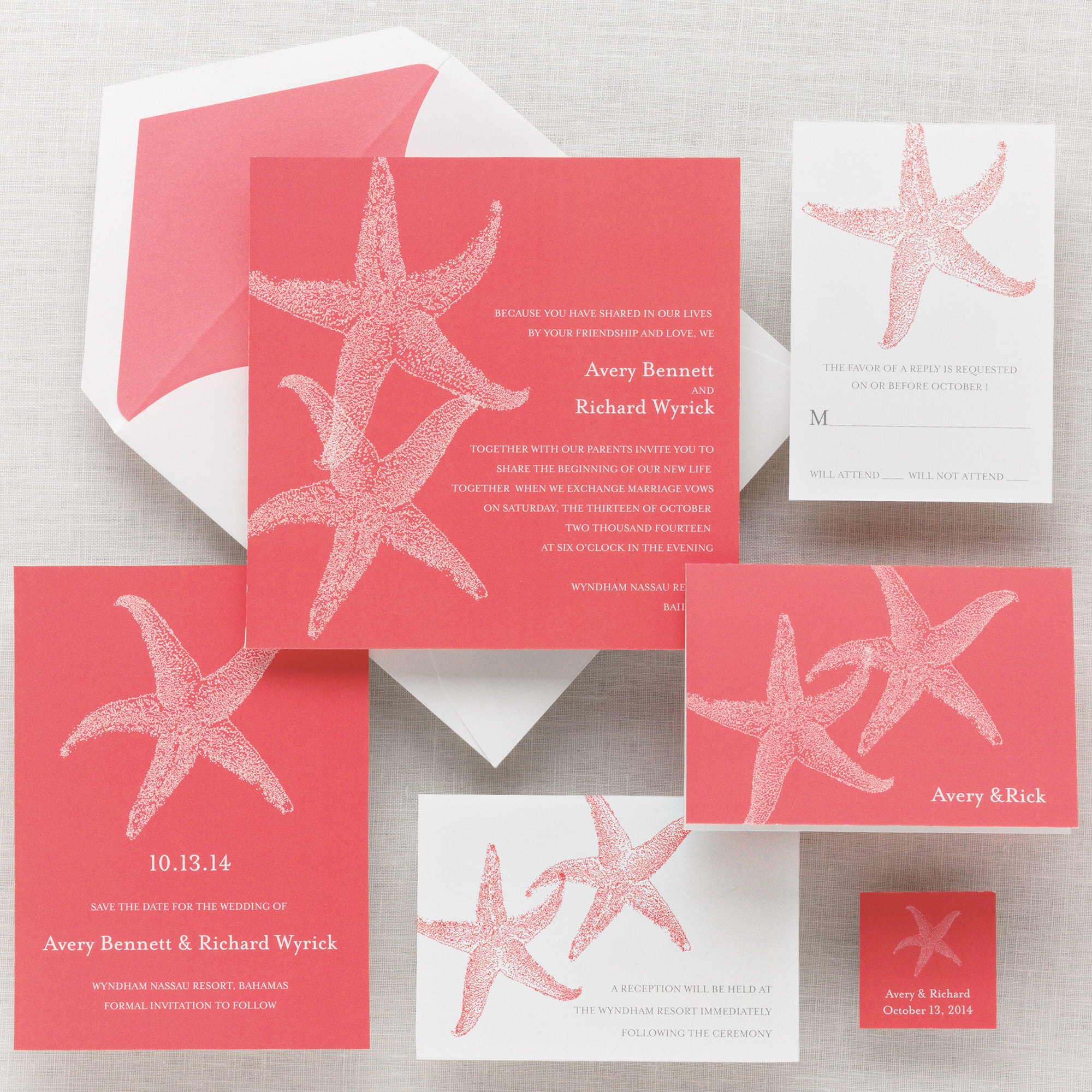 Beach Wedding Invitations Themed Invitation Kits