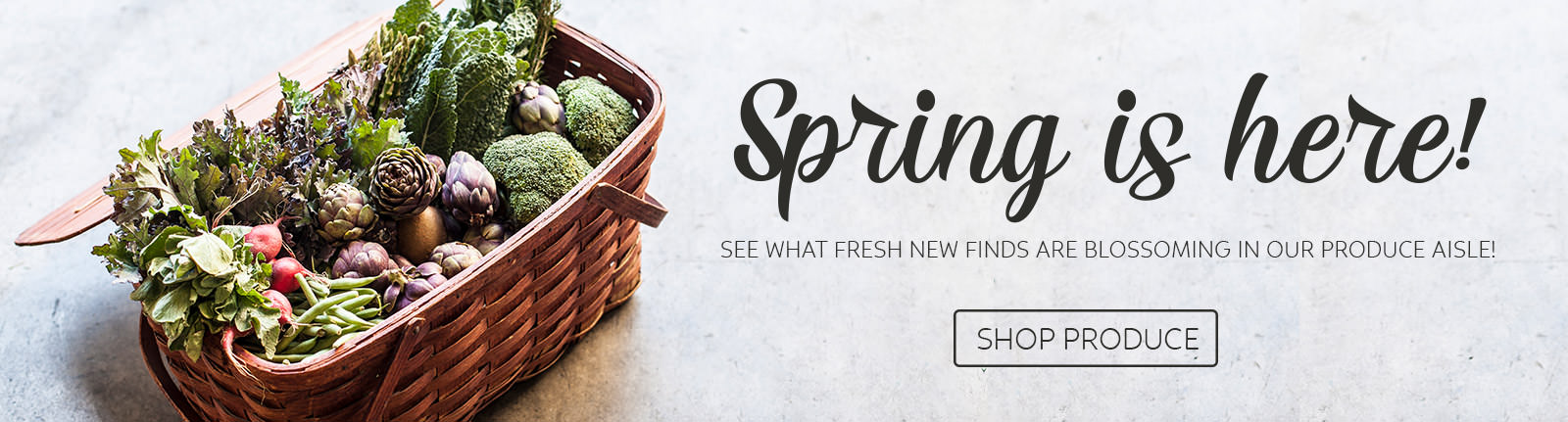 Spring is blooming at our produce aisle!
