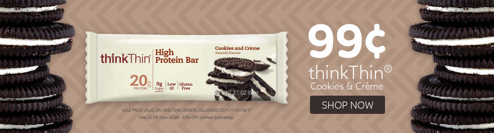 Think Thin Cookies and Creme