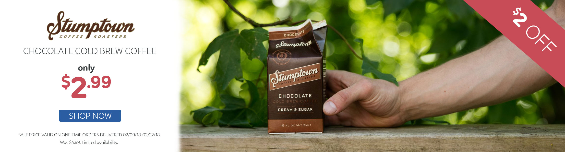 Stumptown Chocolate Cold Brew $2 Off