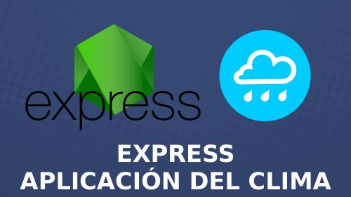 App del clima con Express y Dark Sky API