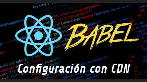 Configuración de React con CDN y Babel