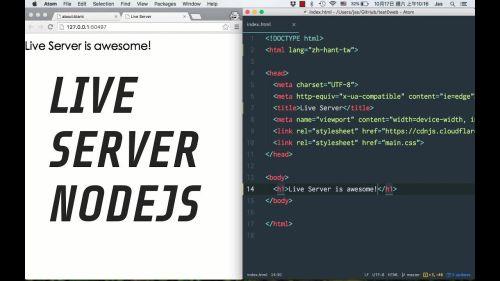 Nodejs Live Server | Servidor en Vivo