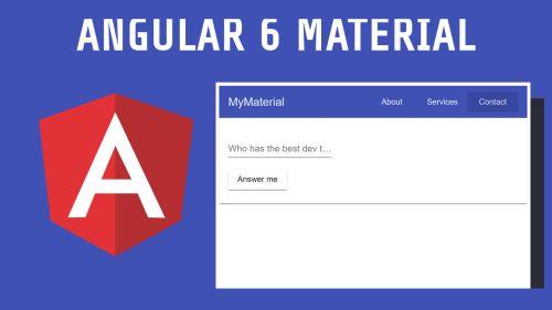 Angular Material con Angular 6