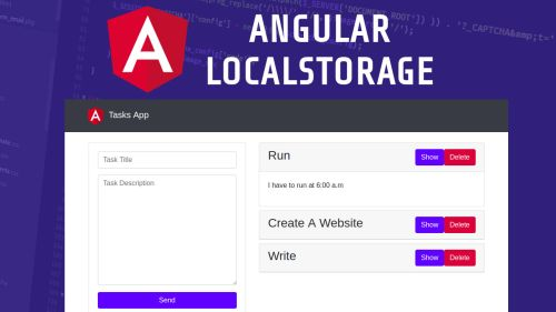 Angular 5 y LocalStorage CRUD