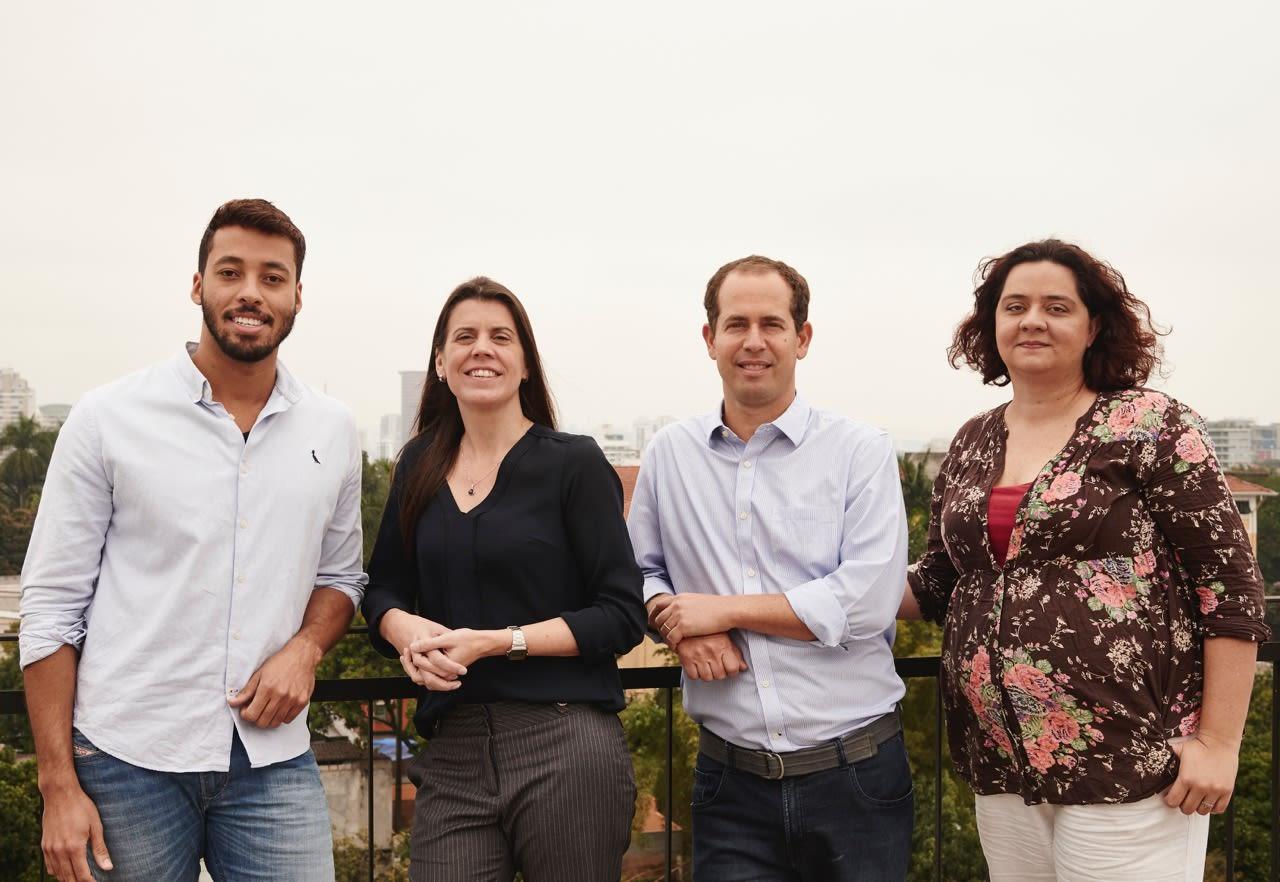 Time de lideranças da área: Fernando Santos (gerente), Patrícia Pessoa (client services), Paulo Loeb (sócio) e Lara Magalhães (client services)