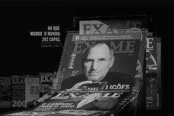 EXAME faz 50 anos com dominó de 1,2 mil capas