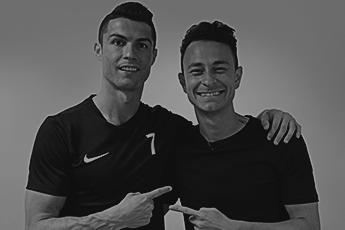 Fred realiza sonho de conhecer Cristiano Ronaldo em ação de Clear