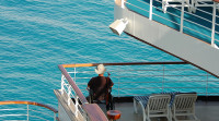 Accessible Travel - Man in wheelchair on a cruise