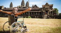Accessible Travel - Woman in wheelchair on vacation