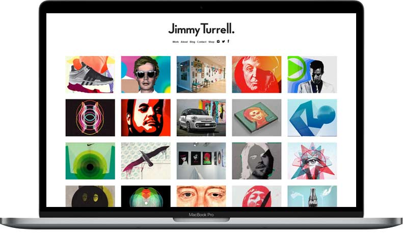 Website Rebuild for Jimmy Turrell on WordPress displayed on laptop