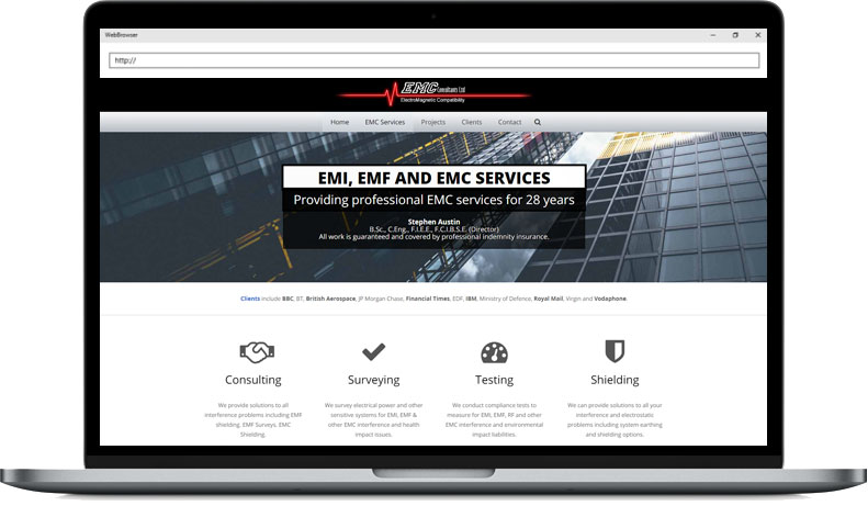 EMC Consultants Web Design