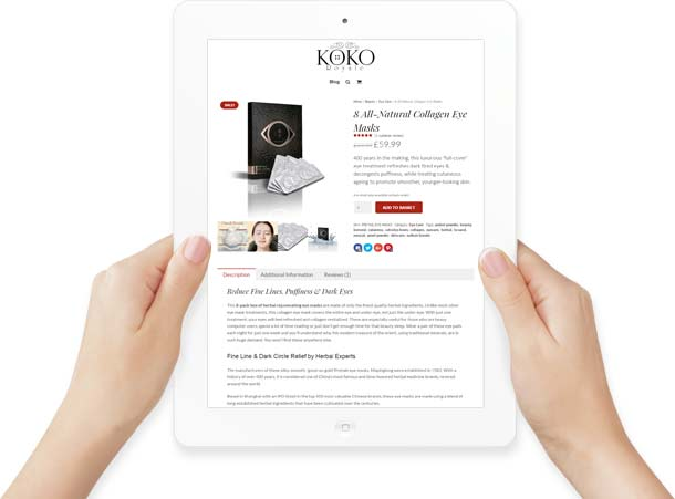 iPad Web Site Design in Hand