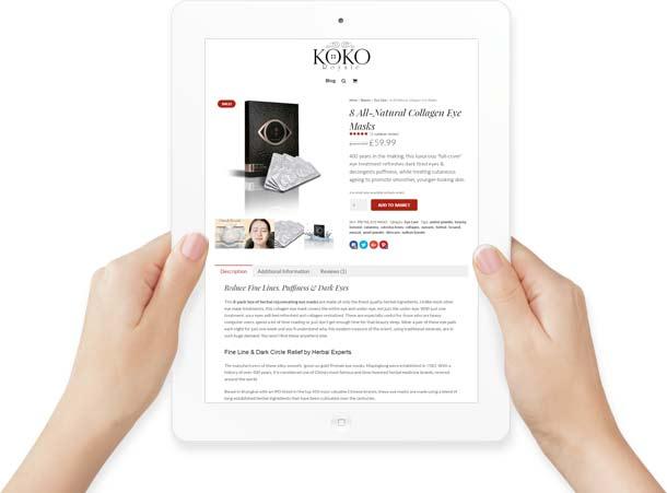 iPad Web Site Design in Hand