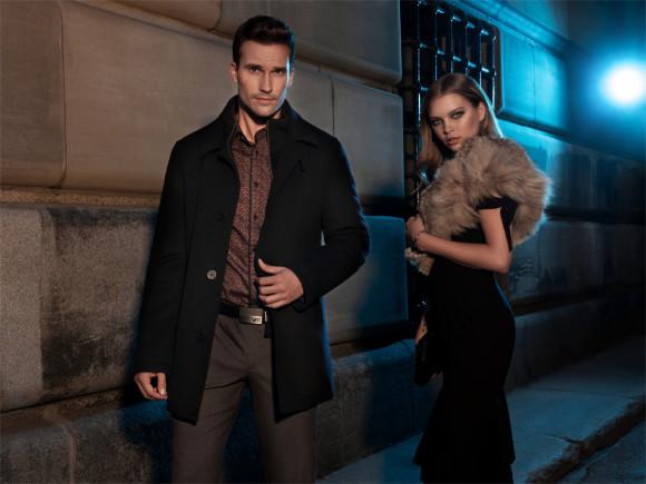 Manteau en laine revers cranté