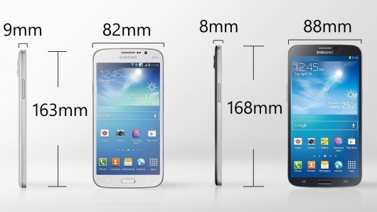 Galaxy Mega Comparision