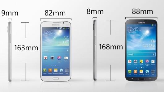 Galaxy Mega Comparision