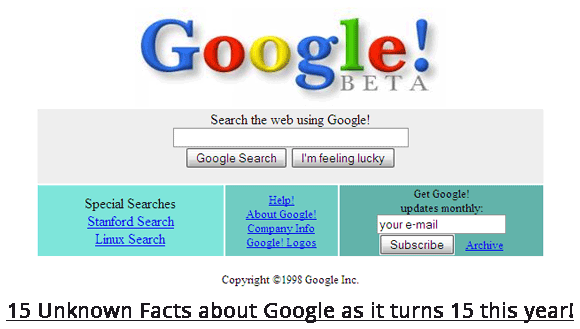 15 Things You Never Knew About Google