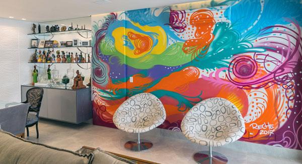 PB inclui grafite na decoração