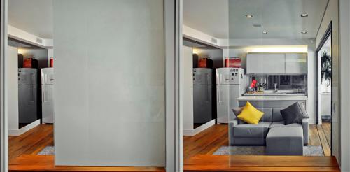 Vidro Privacy Glass da PKO é ideal para projeção de imagens