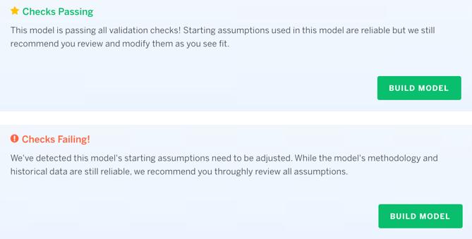 Finbox Model Passing or Failing