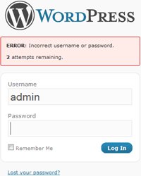 You can achieve this objective using the Limit Login Attempts WordPress plugin.