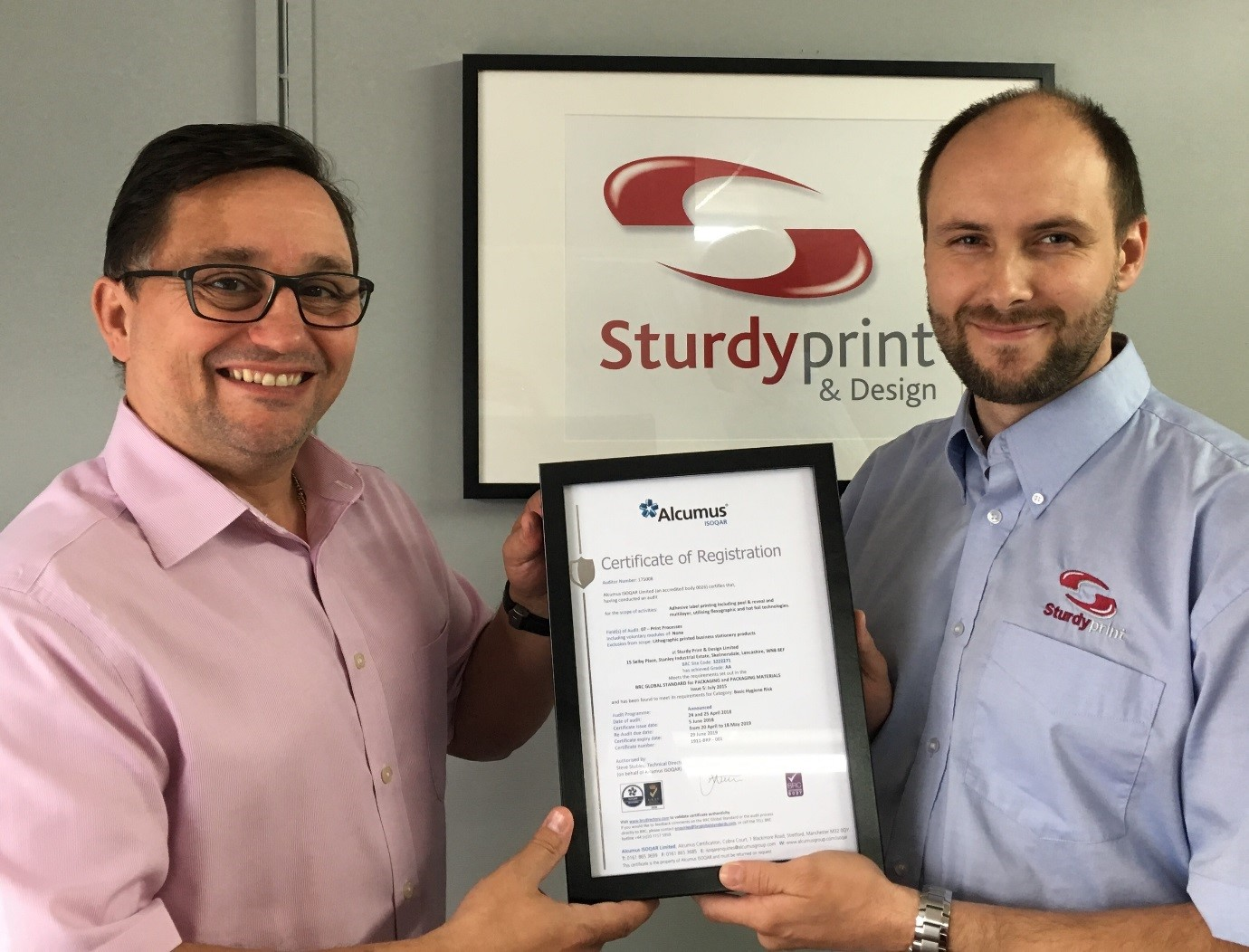 Sturdy Print achieve an AA grade for the second year running