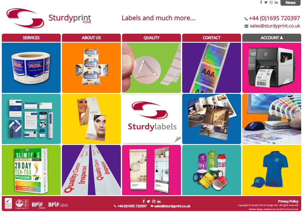 Sturdy Print launch their new website