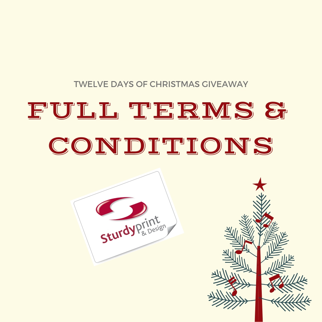 Twelve days of Christmas giveaway full terms and conditions