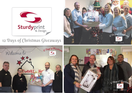 Days 1, 2 and 3 of Sturdy Print Christmas Giveaways